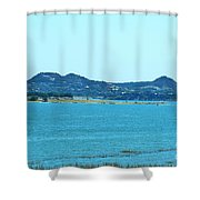 Hill Country Lake Shower Curtain