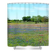 Hill Country Pastel Panorama Shower Curtain
