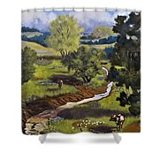 Hill Country Pasture Shower Curtain