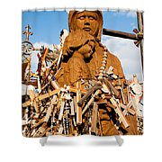 Hill Of Crosses Lithuania Shower Curtain