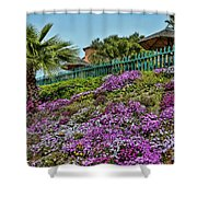 Hill Of Flowers Shower Curtain