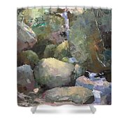 Hill Side Spring Shower Curtain