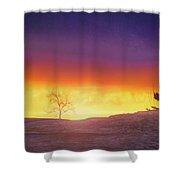 Hill Sunset Shower Curtain