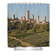 Hill Town Of San Gimignano Shower Curtain