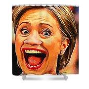 Hillary Clinton Shower Curtain