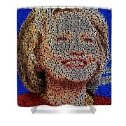 Hillary Presidents Mosaic Shower Curtain