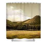 Hills And Fields Of Trial Harbour Shower Curtain