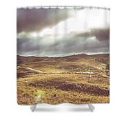 Hills And Outback Tracks Shower Curtain