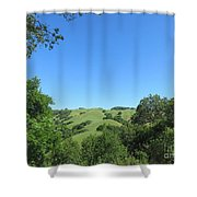 Hills Beyond The Trees Shower Curtain