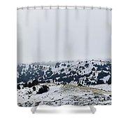 Hills In Fog Shower Curtain