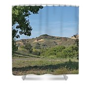 Hills In Peters Canyon Shower Curtain
