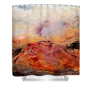 Hills In The Autumn Shower Curtain