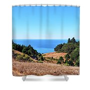 Hills To The Sea Shower Curtain