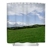 Hills Touching The Sky. Shower Curtain