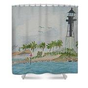 Hillsborough Lighthouse Shower Curtain