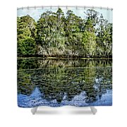 Hillsborough River Panorama 1 Shower Curtain
