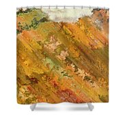 Hillside Flowers I Shower Curtain