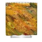 Hillside Flowers II Shower Curtain