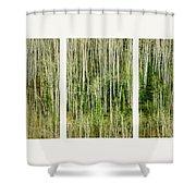 Hillside Forest Shower Curtain by Priska Wettstein