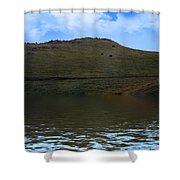 Hillside Reflection Shower Curtain