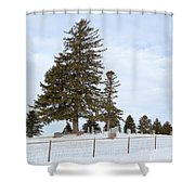 Hilltop Cemetery Shower Curtain