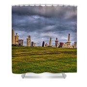 Hilltop Graveyard Shower Curtain