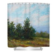 Hilltop Trees Shower Curtain