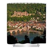 Hilltop View - Heidelberg Castle Shower Curtain