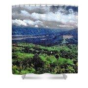 Hilly Terrain Shower Curtain
