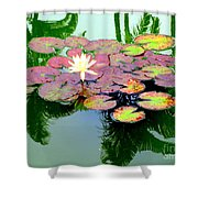 Hilo Water Lily 5 Shower Curtain