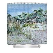 Hilton Head Beach Fauna Shower Curtain