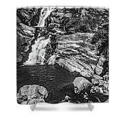 Himalayan Bath Bw Shower Curtain