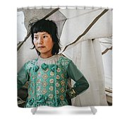 Himalayan Girl Shower Curtain