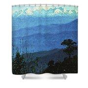 Himalayas In The Evening 1875 Vasily Vereshchagin Shower Curtain