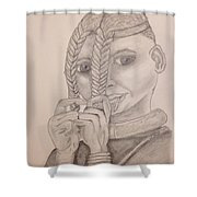 Himba Girl In Nambia Shower Curtain