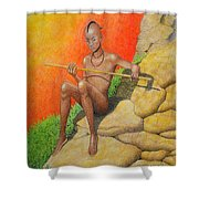 Himba Omu-atje Shower Curtain