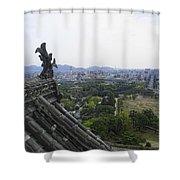 Himeji City From Shogun's Castle Shower Curtain