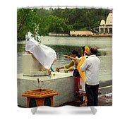 Hindu Offering Shower Curtain