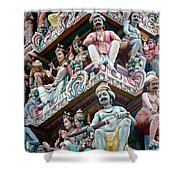 Hindu Temple Little India Singapore Shower Curtain