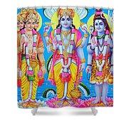 Hindu Trinity Brahma Vishnu Shiva Shower Curtain