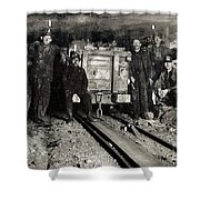 Hine: Coal Miners, 1911 Shower Curtain