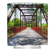 Hinkson Creek Bridge Shower Curtain