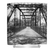 Hinkson Creek Bridge In Black And White Shower Curtain