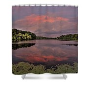 Hinson Lake Clouds Shower Curtain