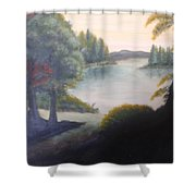 Hint Of A Lake Shower Curtain