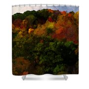 Hint Of Fall Color Painting Shower Curtain