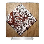 Hints Of Life - Tile Shower Curtain