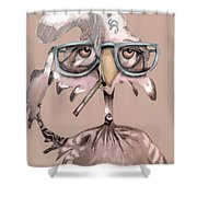 Hip Chick Shower Curtain