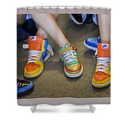 Hip Hop Shoes Shower Curtain