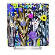 Hippie Hippie Straws Shower Curtain
